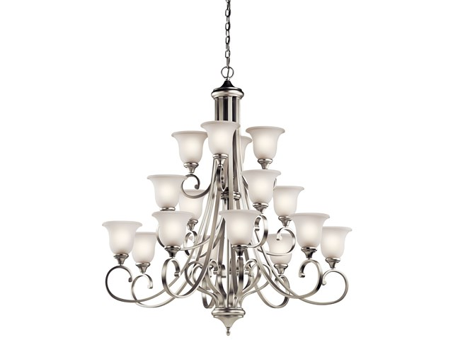 Monroe™ 16 Light Multi-Tier Chandelier Brushed Nickel