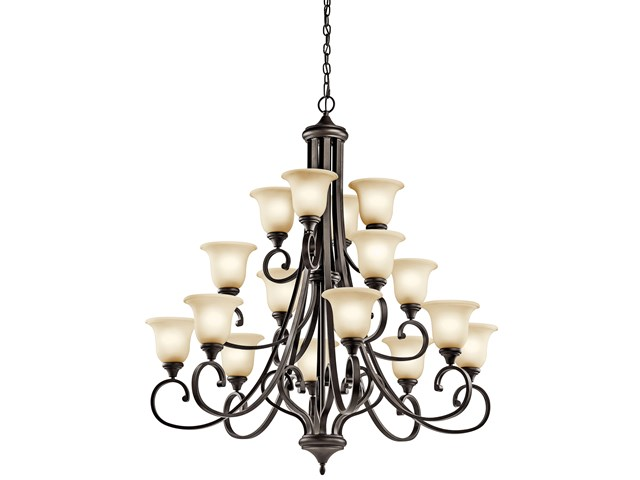 Monroe™ 16 Light Multi-Tier Chandelier Olde Bronze®
