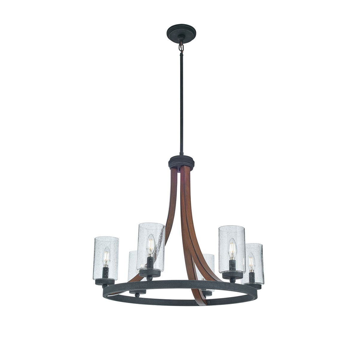 Grand Bank™ 6 Light Chandelier Auburn Stained™