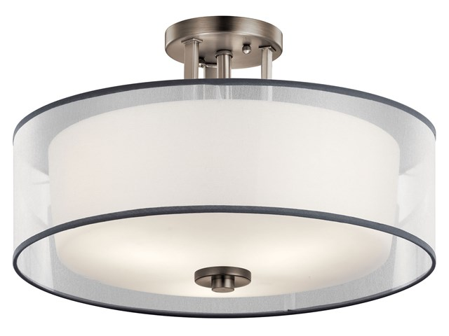 Tallie™ 3 Light Semi Flush Antique Pewter