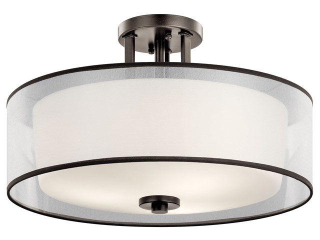 Tallie™ 3 Light Semi Flush Mission Bronze