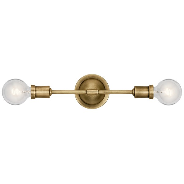 "Armstrong 5"" Wall Sconce Natural Brass"