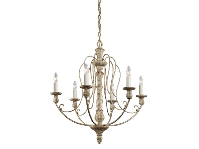 Hayman Bay™ 6 Light Chandelier Distressed Antique White