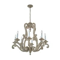 Hayman Bay™ 8 Light Chandelier Distressed Antique White