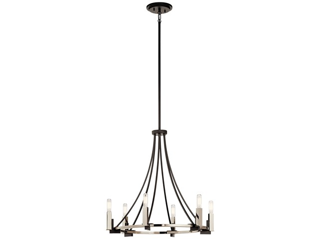 Bensimone™ 6 Light Chandelier Black