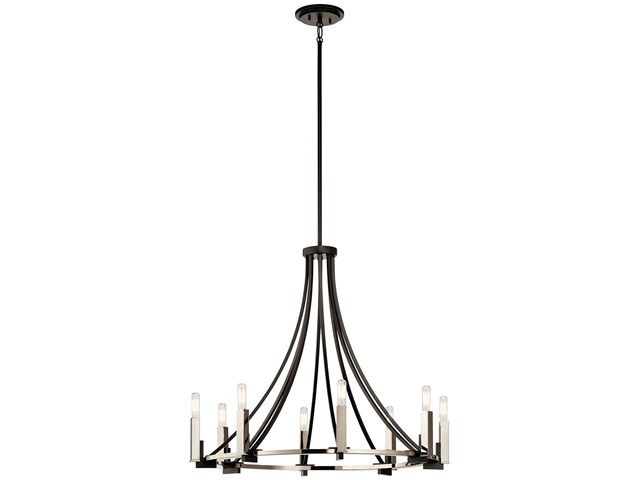 Bensimone™ 8 Light Chandelier Black