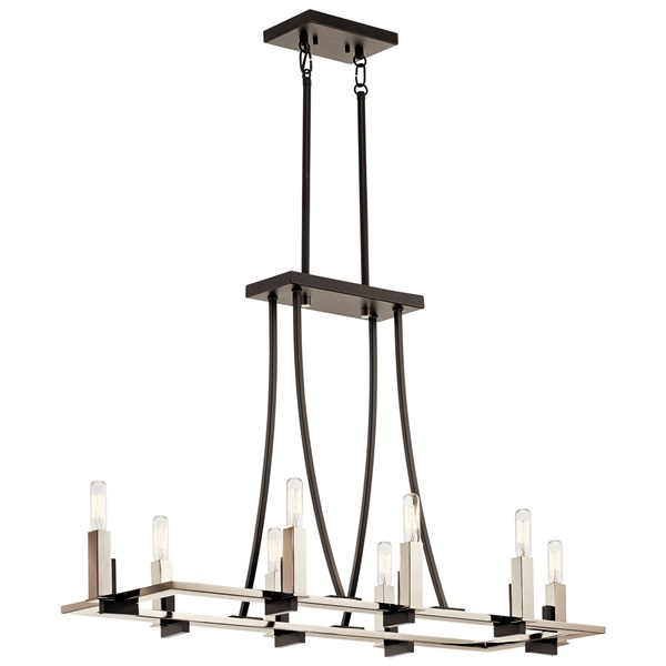 Bensimone™ Linear 8 Light Chandelier Black