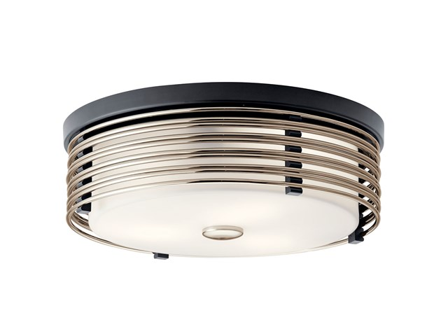 Bensimone™ 2 Light Flush Mount Black