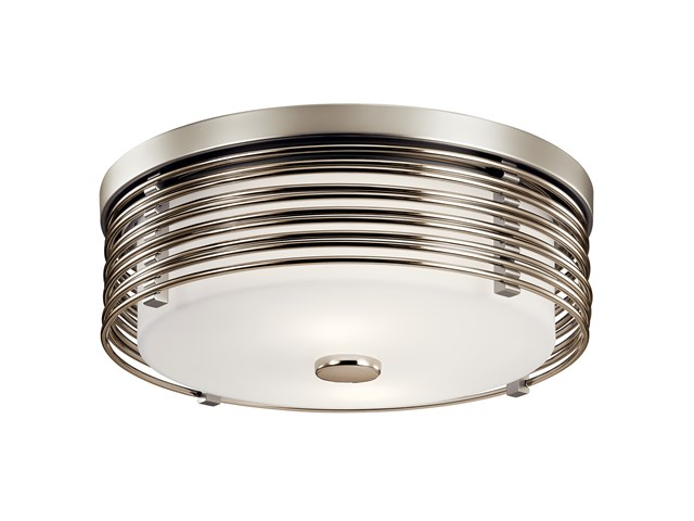Bensimone™ 2 Light Flush Mount Satin Nickel