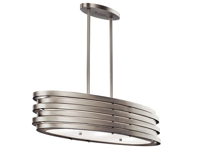 Roswell™ 3 Light Oval Chandelier Brushed Nickel