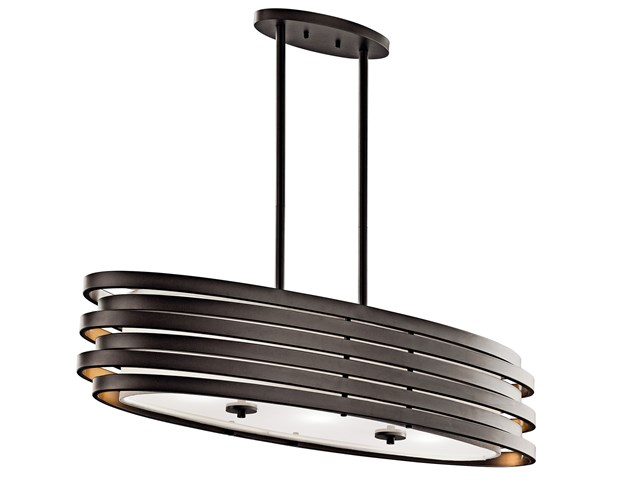 Roswell™ 3 Light Oval Chandelier Olde Bronze®