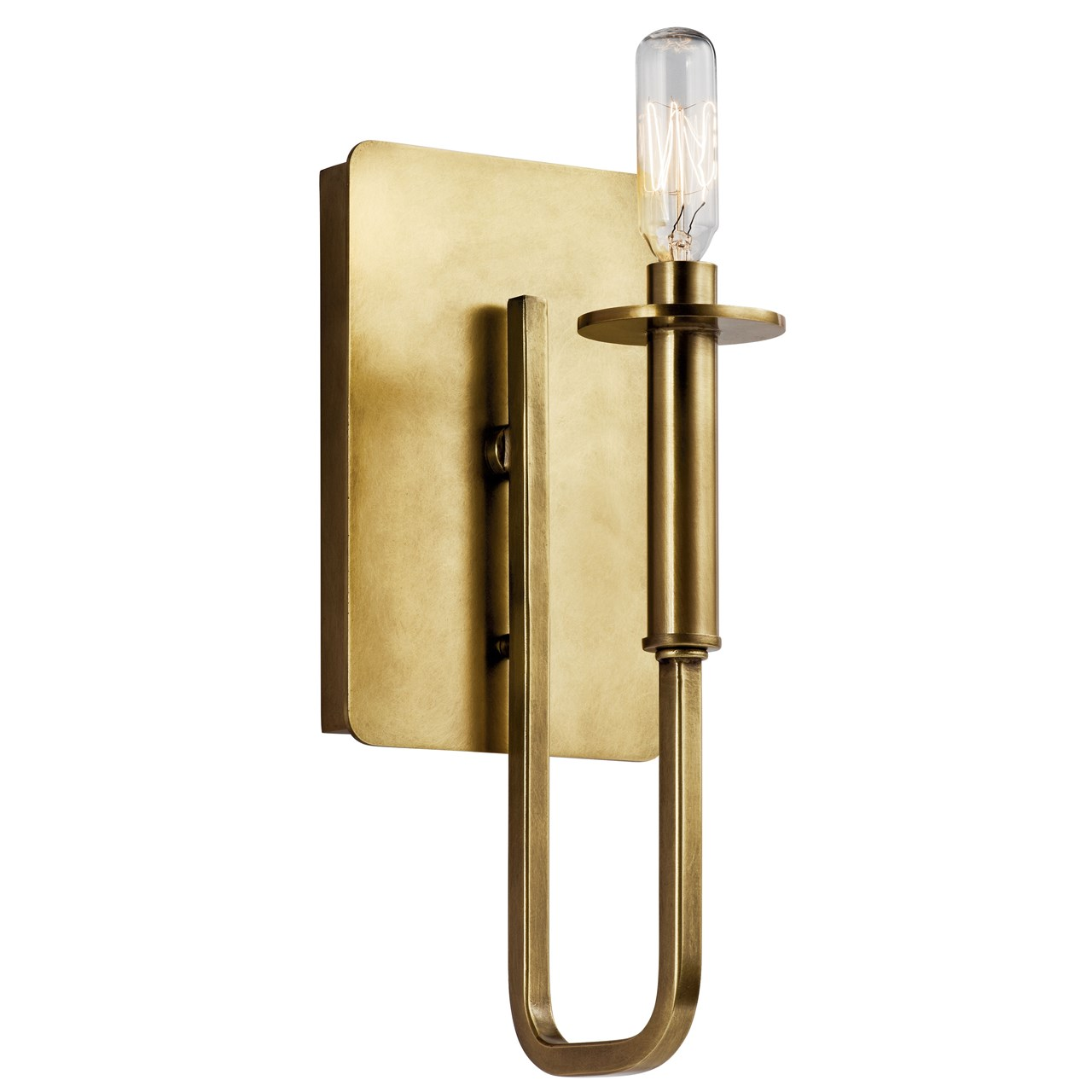Alden 1 Light Wall Sconce Natural Brass