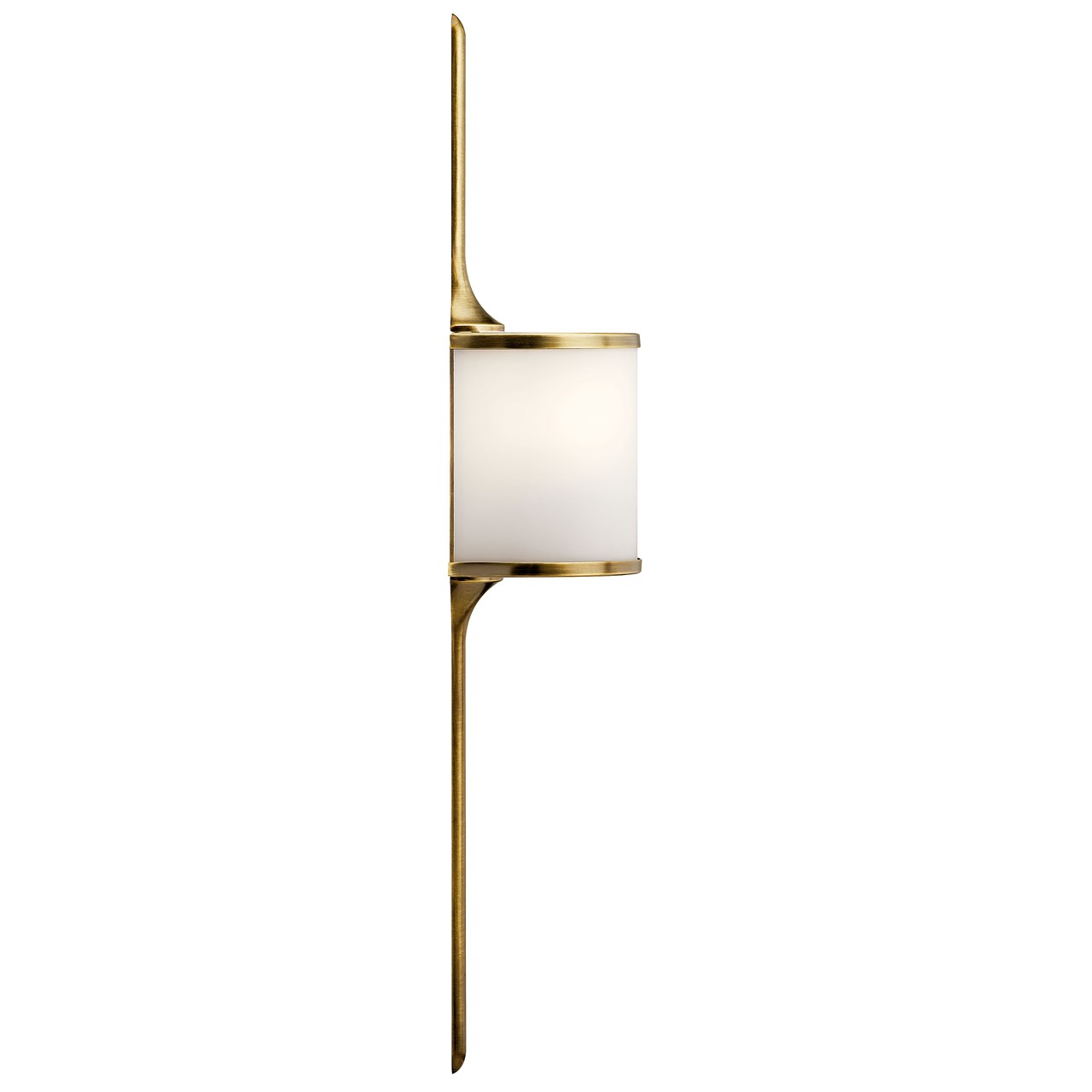 Mona 2 Light Halogen Wall Sconce Natural Brass