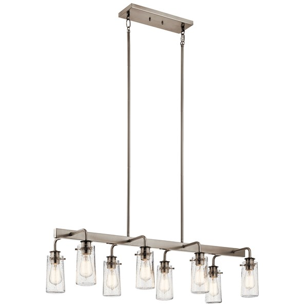 Braelyn 8 Light Linear Chandelier Classic Pewter
