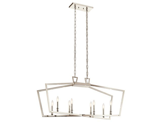 Abbotswell™ 8 Light Linear Chandelier Polished Nickel™