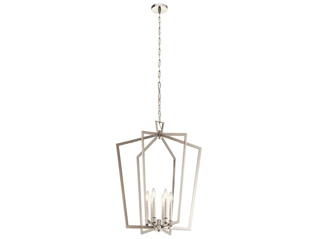 Abbotswell™ 6 Light Chandelier Polished Nickel™