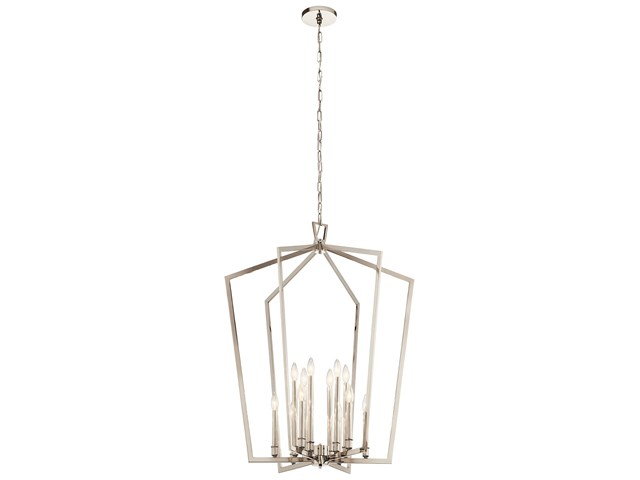Abbotswell™ 12 Light Foyer Chandelier Polished Nickel™