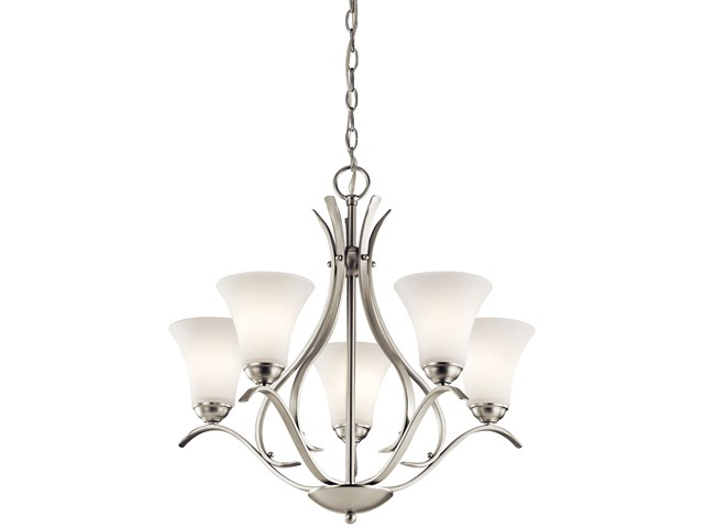 Keiran™ 5 Light Chandelier Brushed Nickel