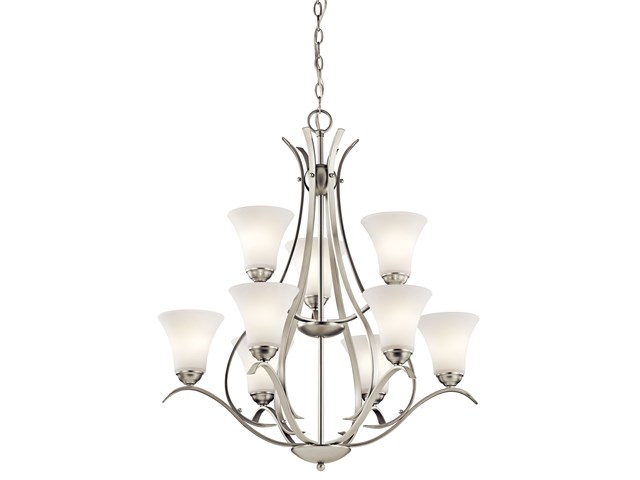 Keiran™ 9 Light 2 Tier Chandelier Brushed Nickel