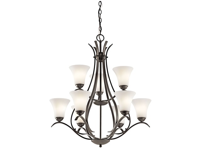 Keiran™ 9 Light 2 Tier Chandelier Olde Bronze®