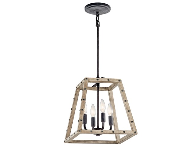 Basford™ 4 Light Pendant - Distressed Antique Gray