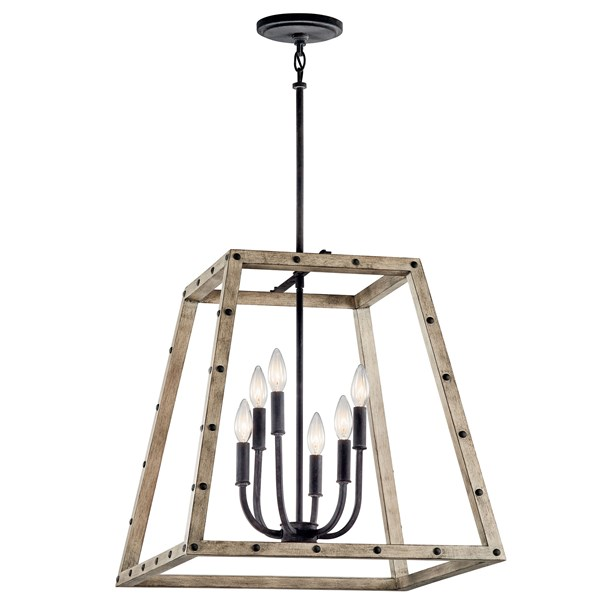Basford™ 6 Light Pendant - Distressed Antique Gray