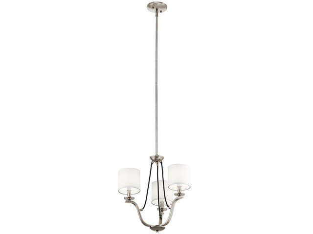 "Thisbe™ 18"" 3 Light Mini Chandelier Classic Pewter"