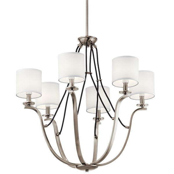 "Thisbe™ 27.5"" 6 Light Chandelier Classic Pewter"