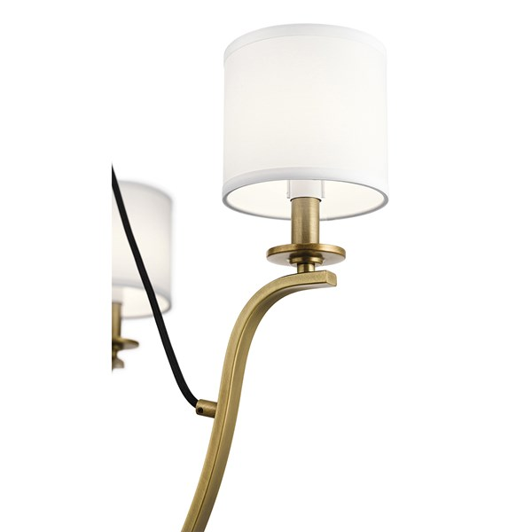"Thisbe™ 27.5"" 6 Light Chandelier Natural Brass"