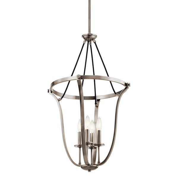 "Thisbe™ 29.25"" 4 Light Foyer Pendant Classic Pewter"