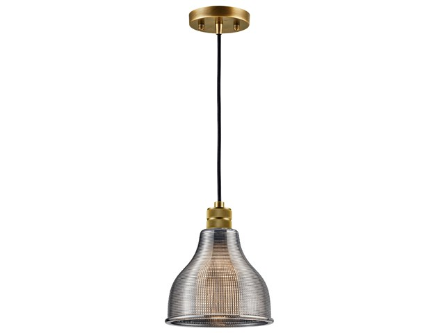 "Devin 8"" 1 Light Mini Pendant Natural Brass"