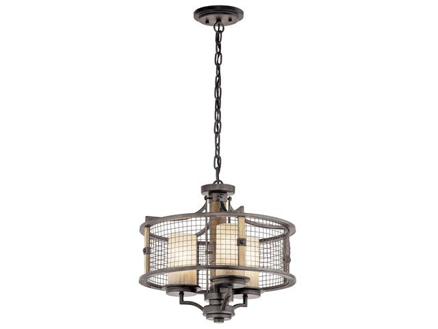 Ahrendale™ 3 Light Convertible Chandelier Anvil Iron™