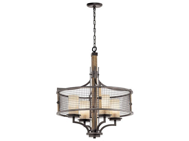 Ahrendale™ 4 Light Chandelier Anvil Iron™