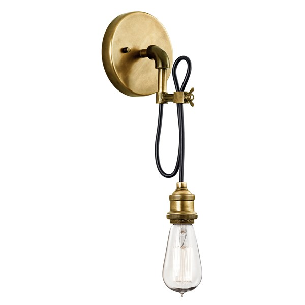 Rumer™ 1 Light Convertible Pendant Natural Brass