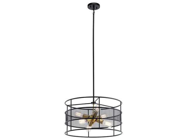 Piston™ 6 Light Pendant Black