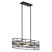 Piston™ 4 Light Oval Chandelier Black