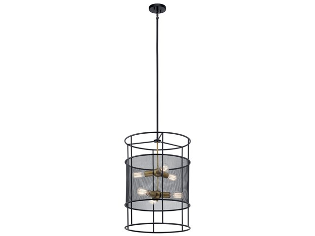 Piston™ 9 Light Foyer Pendant Black