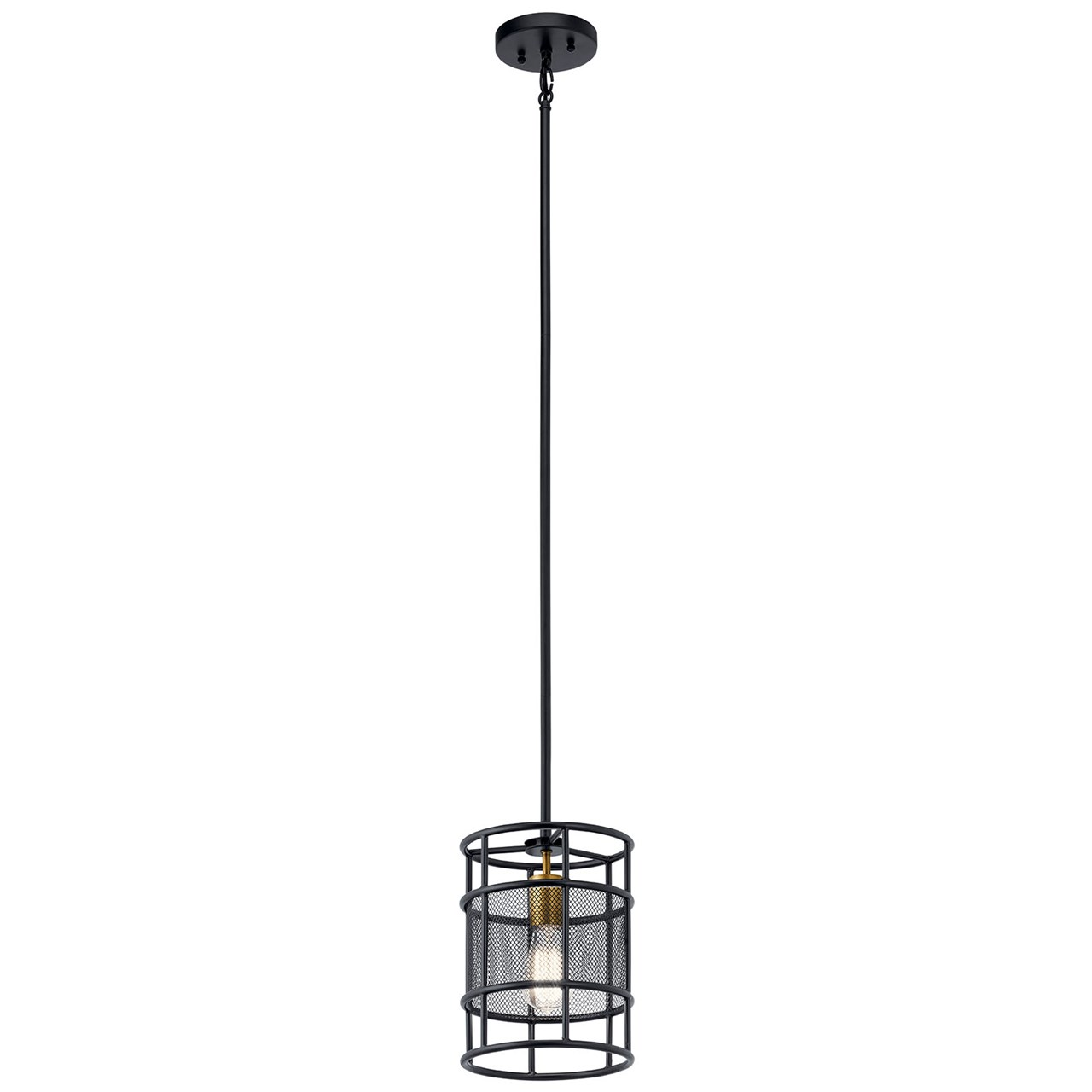Piston™ 1 Light Mini Pendant Black