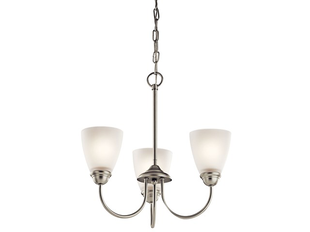 Jolie™ 3 Light Mini Chandelier Brushed Nickel