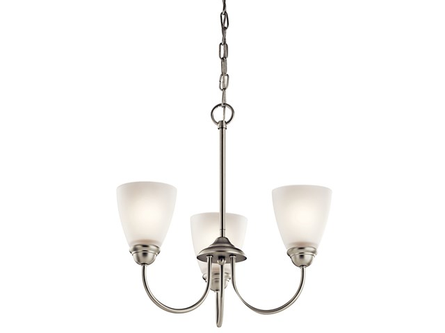 Jolie™ 3 Light Mini Chandelier with LED Bulbs Brushed Nickel