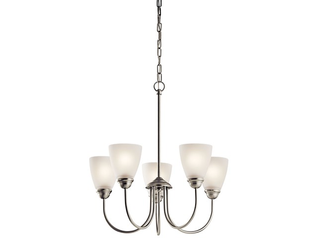 Jolie™ 5 Light Chandelier Brushed Nickel