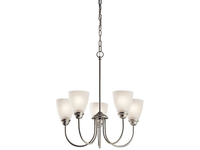 Jolie™ 5 Light Chandelier with LED Bulbs Brushed Nickel