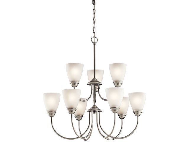 Jolie™ 9 Light Chandelier with LED Bulbs Brushed Nickel