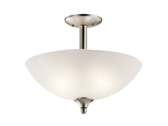 Jolie™ 2 Light Convertible Pendant with LED Bulbs Brushed Nickel