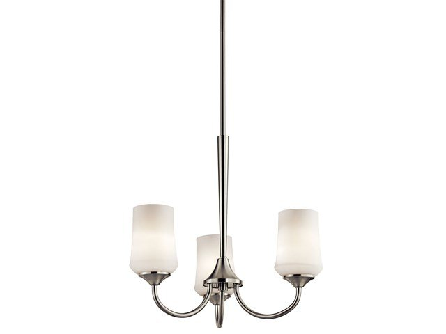 Aubrey 3 Light Chandelier Brushed Nickel