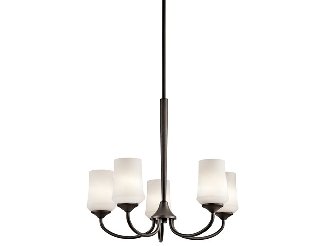 Aubrey 5 Light Chandelier with LED Bulbs Olde Bronze®