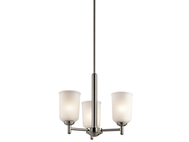 Shailene™ 3 Light Mini Chandelier Brushed Nickel