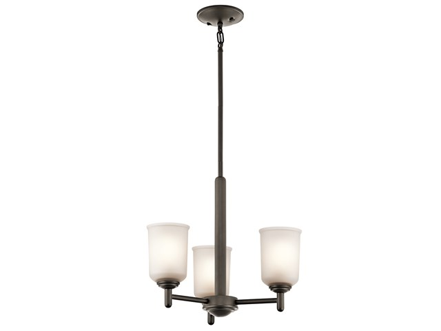Shailene™ 3 Light Mini Chandelier Olde Bronze®