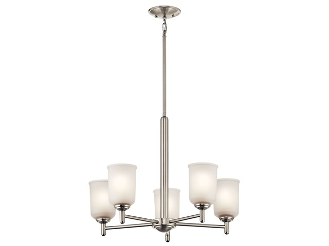 Shailene™ 5 Light Chandelier Brushed Nickel