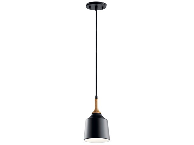 Danika 1 Light Mini Pendant Black